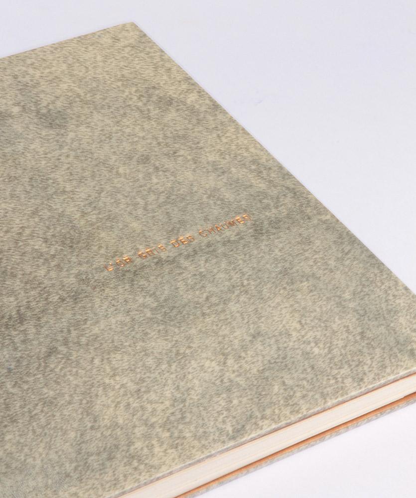 Dorure à la feuille d'or, garde papier bord à bord