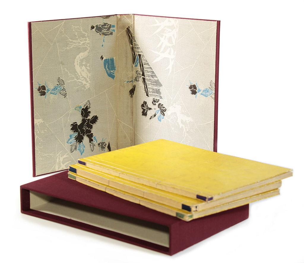 Chemise et étui en toile, insertion du tissu japonais d'origine
